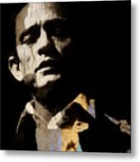 Johnny Cash - I Walk The Line  Metal Print