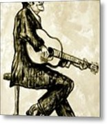 Johnny Cash II Metal Print