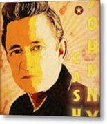 Johnny Cash Poster  Metal Print