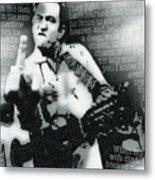 Johnny Cash Rebel Vertical Metal Print