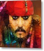 Johnny Depp As Jack Sparrow Metal Print