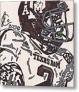 Johnny Manziel 5 Metal Print by Jeremiah Colley