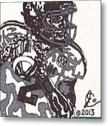 Johnny Manziel 8 Metal Print by Jeremiah Colley