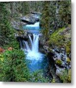 Johnston Canyon Falls Hike Lower Falls Metal Print