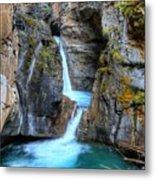 Johnston Canyon Falls Hike Upper Falls II Metal Print