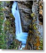 Johnston Canyon Falls Hike Upper Falls Metal Print