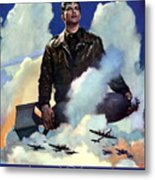 Join The Army Air Forces Metal Print