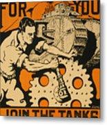 Join The Tanks Metal Print