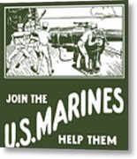 Join The Us Marines Metal Print