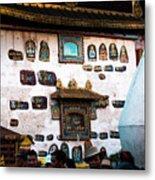 Jokhang Temple Wall Lhasa Tibet Artmif.lv Metal Print