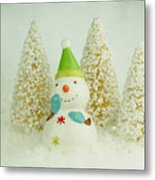 Jolly The Snowman I Metal Print