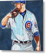 Jon Lester Chicago Cubs Metal Print