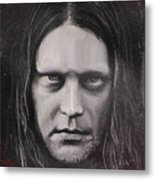 Jonas P Renkse Musician From Katatonia Band By Julia Art Metal Print