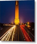 Jones Beach Pencil Light Trails Metal Print