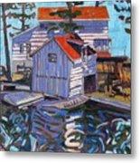Jones Boathouse Metal Print