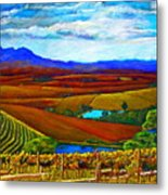 Jordan Vineyard Metal Print