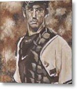 Jorge Posada New York Yankees Metal Print