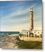 Jose Ignacio Lighthouse Evening Metal Print