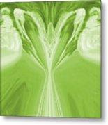 Josea - Green Metal Print