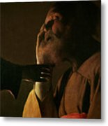 Joseph And The Angel Metal Print by Georges de la Tour