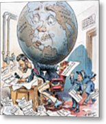 Joseph Pulitzer Cartoon Metal Print