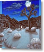Joshua Tree At Night Metal Print