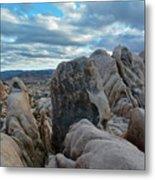 Joshua Tree Boulder Sky Metal Print