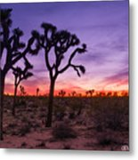 Joshua Tree Pastel Colors Metal Print