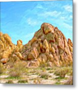 Joshua Tree Rocks Metal Print