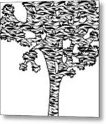 Joshua Tree Zebra Stripes Metal Print