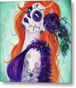 Joslyn Day Of The Dead Art Metal Print