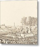 Journee Du 16 Octobre 1793, La Morte De Marie-antoinette Metal Print