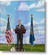 Journey Of A Governor Dave Heineman Metal Print
