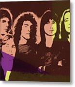 Journey Rock Band Pop Art Metal Print