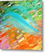 Joy In Abstract Metal Print