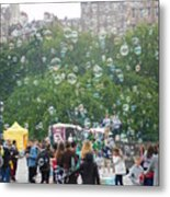 Joy Of Bubbles Metal Print