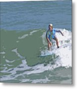 Joy Of Surfing - Three Metal Print