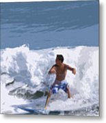 Joy Of Surfing - Two Metal Print