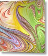 Joyful Flow Metal Print