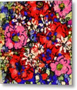 Joyful Flowers Metal Print
