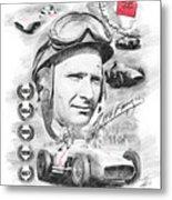 Juan Manuel Fangio Metal Print