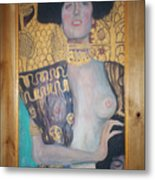 Judith And The Head Of Holofernes Metal Print