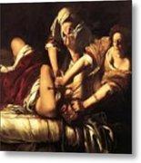 Judith Beheading Holofernes 1620 Metal Print