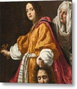 Judith Holding The Head Of Holofernes Metal Print