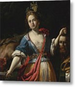 Judith With The Head Of Holofernes 2 Metal Print