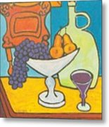Jug Of Wine Metal Print