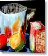 Jug With Fruit Metal Print