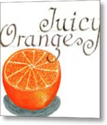 Juicy Orange Metal Print