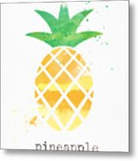 Juicy Pineapple Metal Print