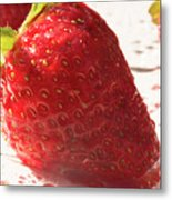 Juicy Strawberries Metal Print
